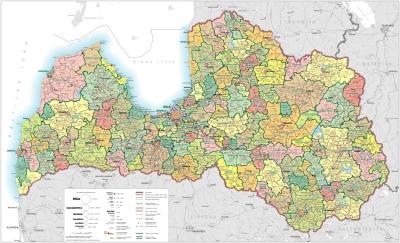 Latvijas novadu karte