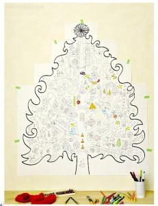 Krāsojamās lapas- Ziemassvētku eglīte