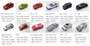 Nissan papīra modeļi
