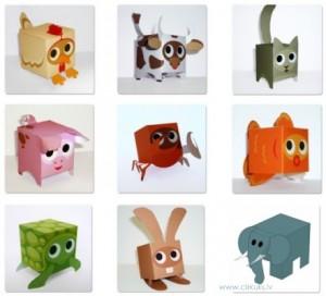 Paperboxworld papīra rotaļlietas