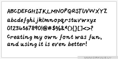 Izveidojam savu Fontu