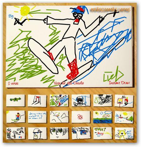 Digital doodle online krāsojamā lapa