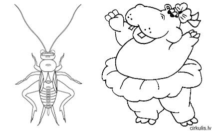 Krāsojam- dzīvnieki, kukaiņi