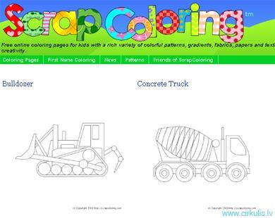 ScrapColoring- krāsojam tiešsaitē