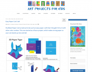 Easy Paper Cat Craft Art Projects for Kids