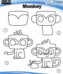 Kā uzzīmēt how_to_draw_Monkey