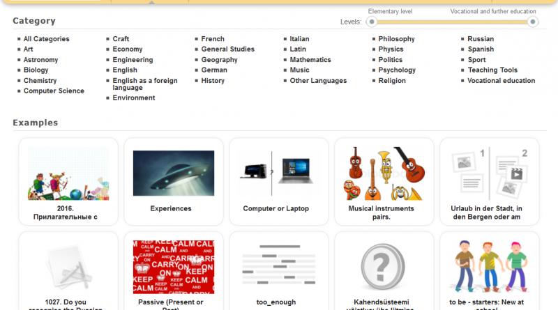 LearningApps izmantošana mācību procesā