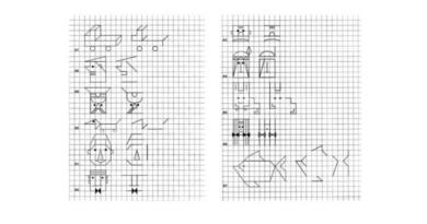Zīmējumi rūtiņās pirmsskolai