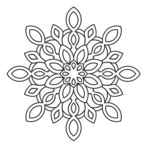 Sniegpārslas kā mandalas