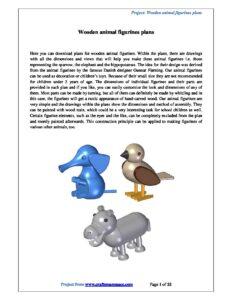 Wooden animal figurines plans