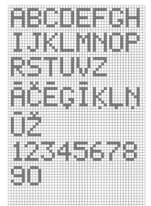 alfabets rutinas piksels