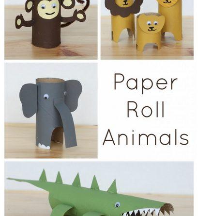 Papīra ruļļa dzīvnieki