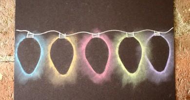 Krītiņu gaismas virtene