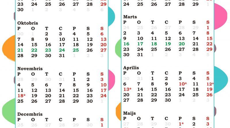 Mācību gada kalendārs 2019./2020.