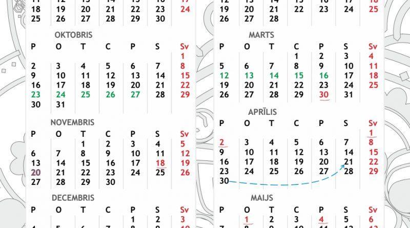 Mācību gada kalendārs 2017./2018. gadam