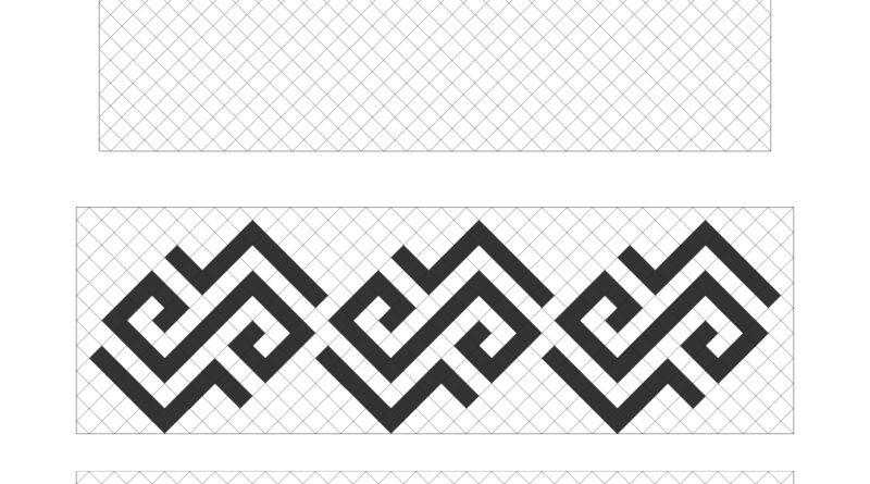 Latvju raksti līniju ritmā