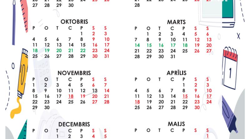 Mācību gada kalendārs 2021./2022. gadam