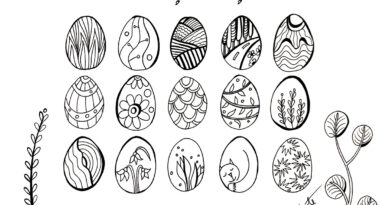 Lieldienas un pavasaris RYE field zīmējumos