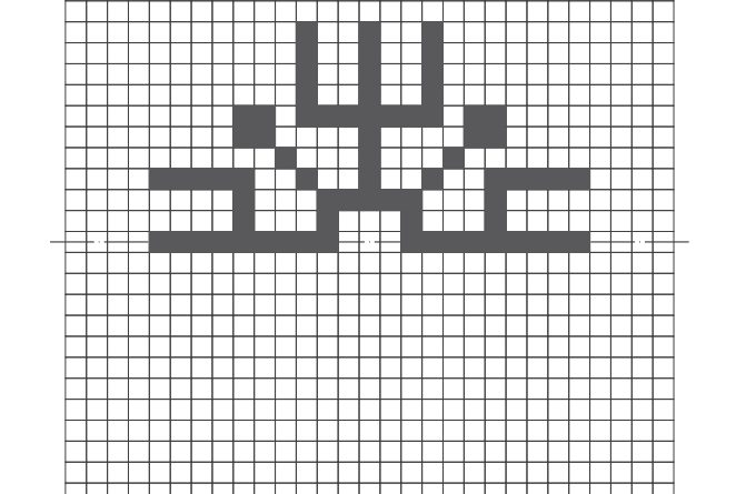 Simetriski raksti rūtiņās
