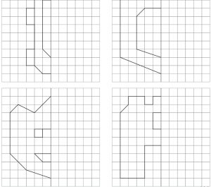 Simetrija rūtiņās divi